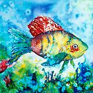 SWIMMING ALONG - FISH by Carrie McKenzie