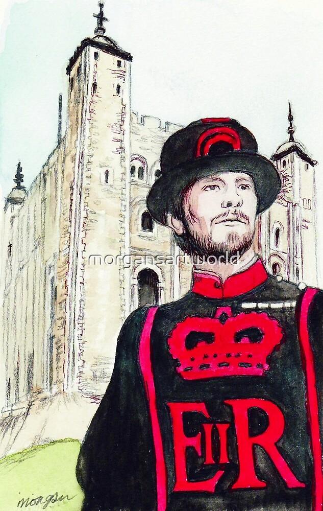 London Tower Guard by morgansartworld