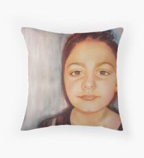 One of a kind : Louise, mixed media on paper Throw Pillow
