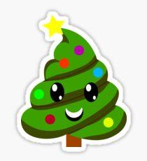 Christmas Tree Poop Emojis Xmas Art - Winter Gift Sticker