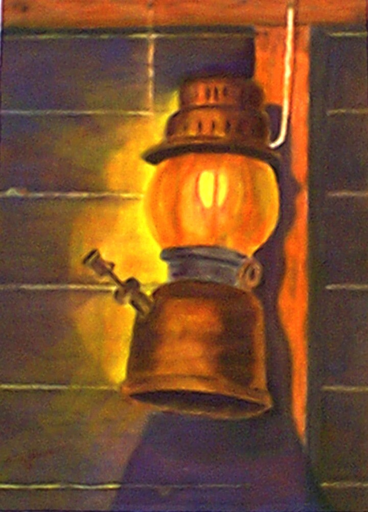 Old oil lamp by AFKlama
