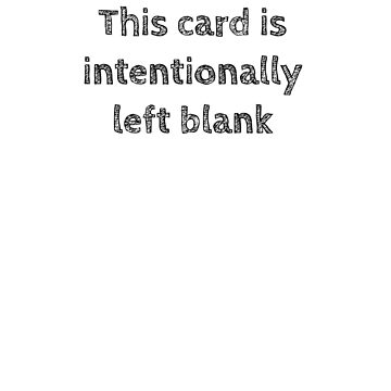 Intentionally Left Blank by AdTheBad