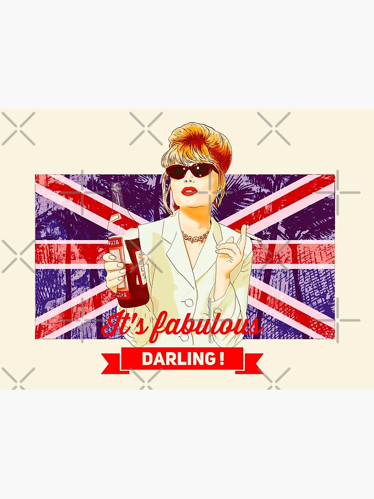 Patsy Stone with the English flag  Union Jack in Absolutely Fabulous  by MimieTrouvetou