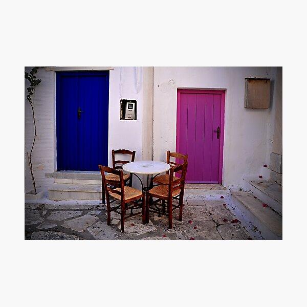 Greek City Scene 004 Photographic Print