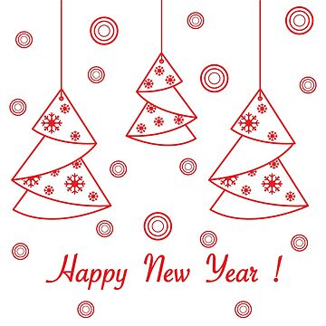 Happy New Year 2019 card. Christmas tree origami. by aquamarine-p
