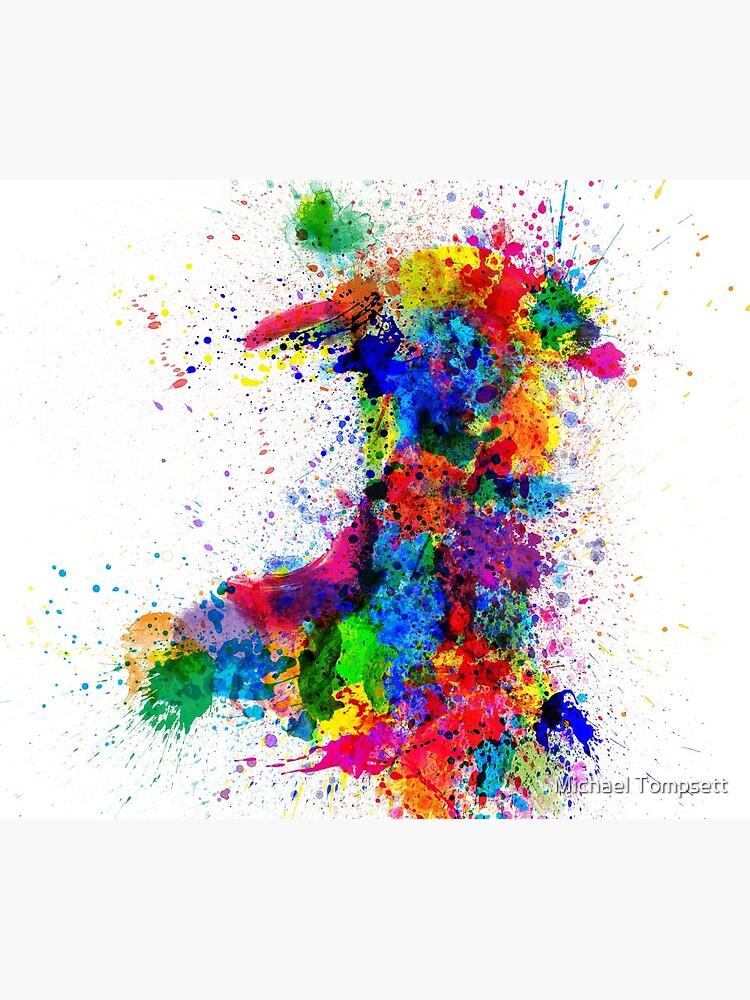 Wales Paint spritzt Karte von ArtPrints
