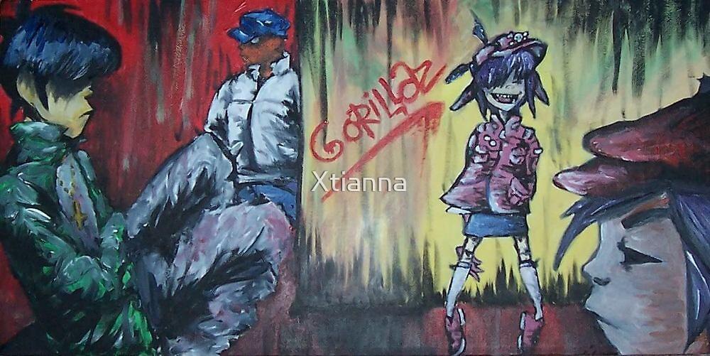 gorillaz by Xtianna