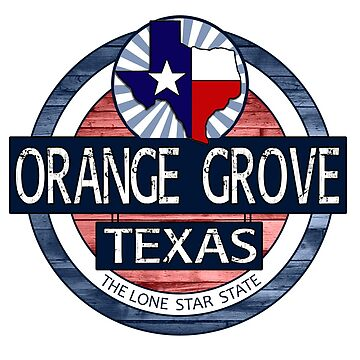 Orange Grove Texas rustic wood circle by artisticattitud
