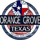 Orange Grove Texas rustic wood circle by artisticattitud