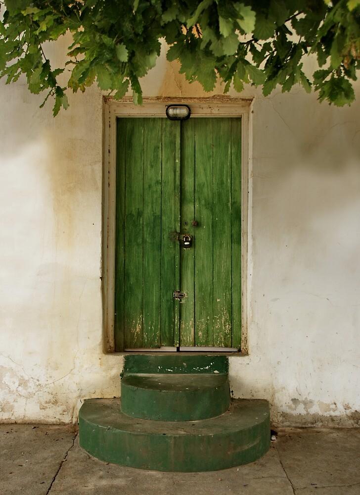 Green door by Erika Gouws