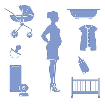 Pregnant woman and goods for babies. by aquamarine-p