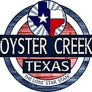 Oyster Creek Texas rustic wood circle by artisticattitud