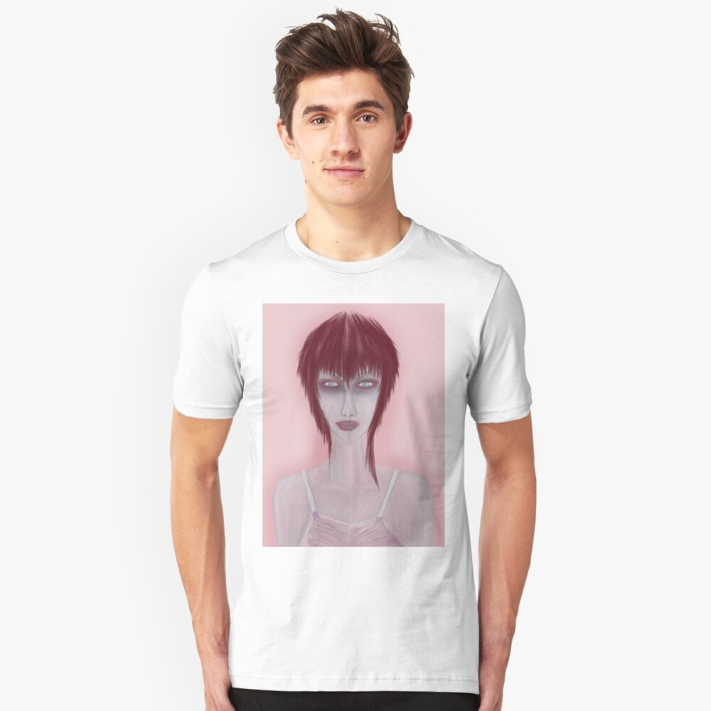Girl On Pink Unisex T-Shirt Front