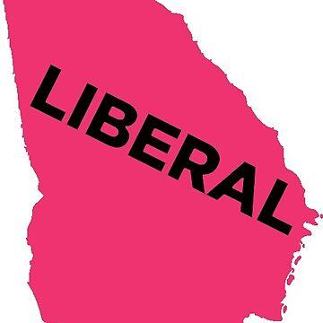 Liberal Georgia - hot pink by wokesouth
