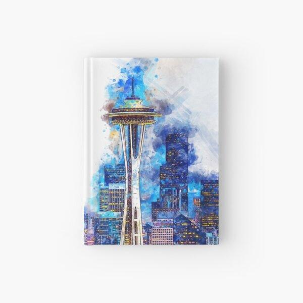 Seattle Skyline  Hardcover Journal