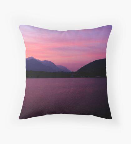 Sunrise over Lake Como Throw Pillow