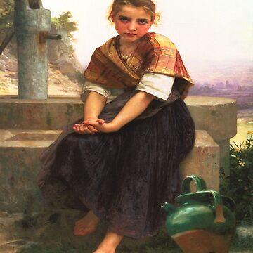 The Broken Pitcher-William Adolphe Bouguereau by LexBauer