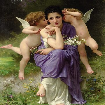 Songs of Spring-William Adolphe Bouguereau by LexBauer