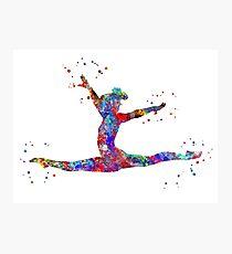 Gymnastics girl, watercolor gymnastics Photographic Print