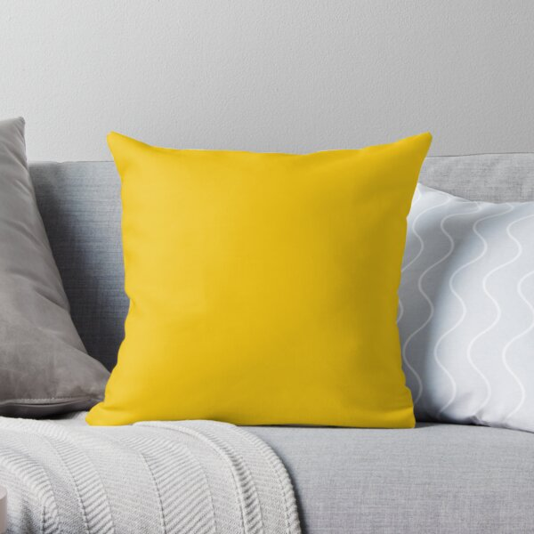 Solid Plain Mid Yellow Throw Pillow