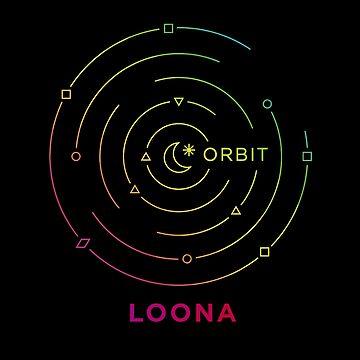 KPOP GIRLGROUP LOONA ORBIT FANDOM LOGO TSHIRT/ HOODIE/ CASE/ MUG/ BAG/ PILLOW/ STICKER by LySaVN