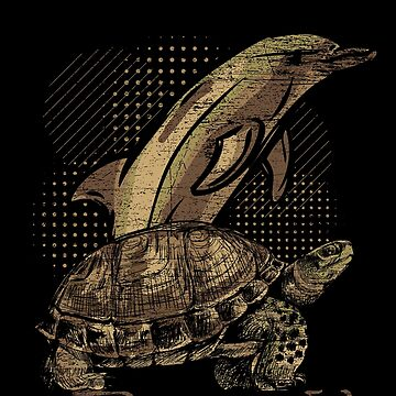 Dolphin turtle by GeschenkIdee