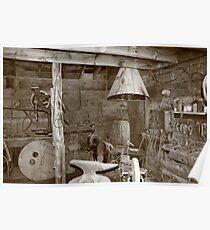 Blacksmiths shop in Idaho City, Idaho Poster