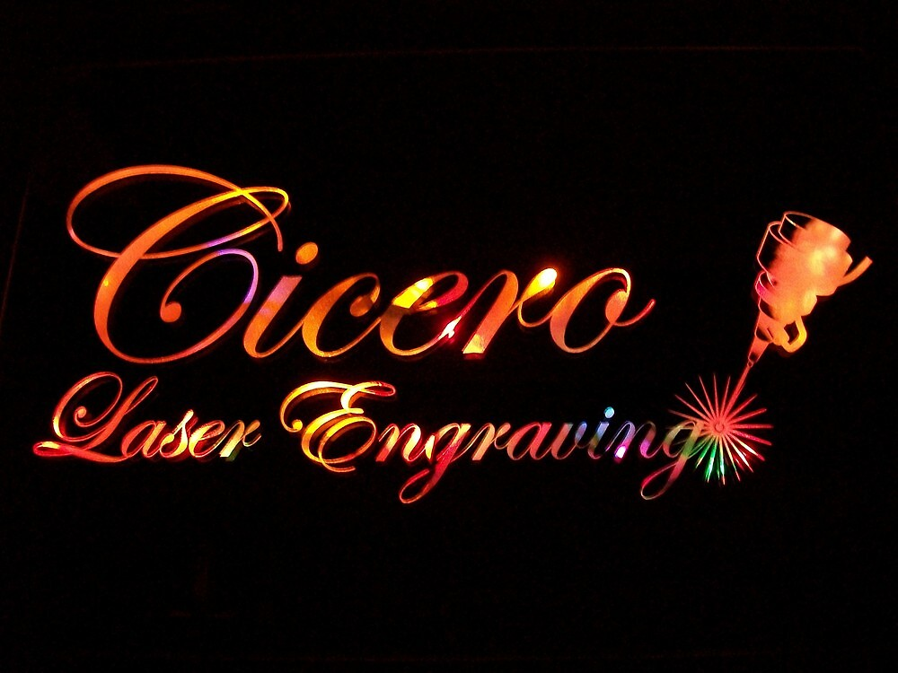 Mirrors backlit with multi-colored lights by CiceroLaser