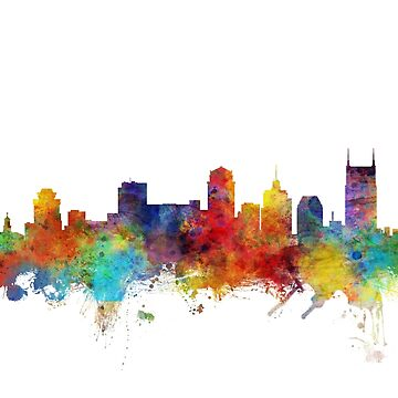 Nashville Tennessee Skyline by ArtPrints