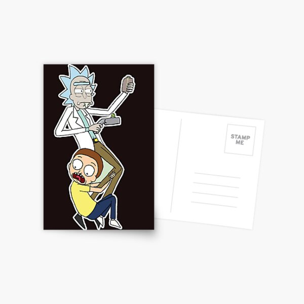 Rick And Morty Postcard