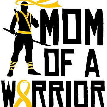 Childhood Cancer Awareness Mom Support Gold Ribbon by kh123856