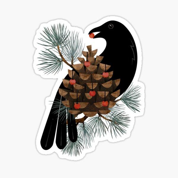 Bird & Berries Sticker