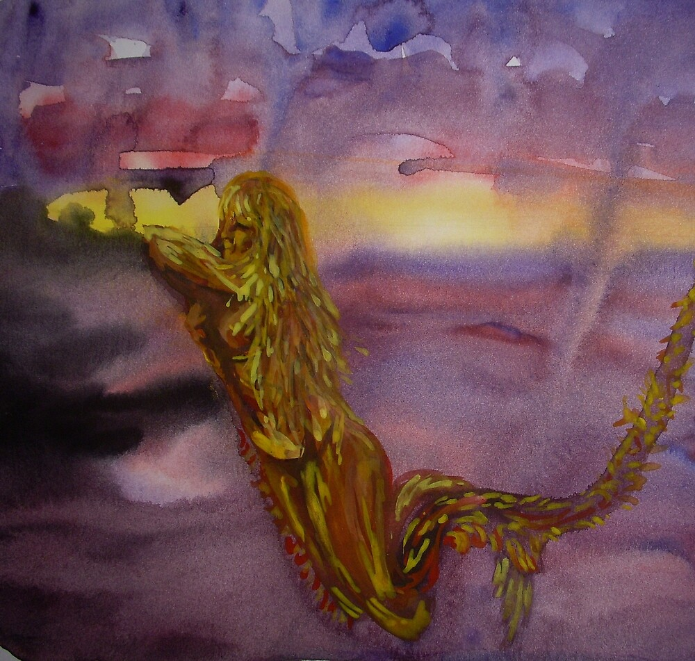Sunset Dance of the Siren and the Swirling Tornadoes by Anthropolog