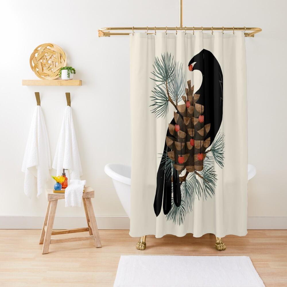Bird & Berries Shower Curtain