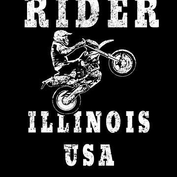 Rider Illinois USA - Used Look Motorcycle Illinois by DennBa