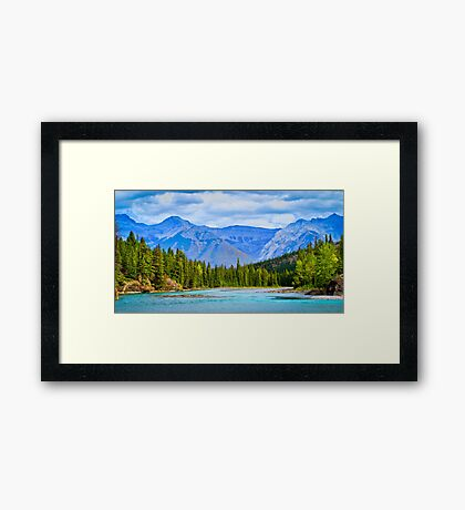 The Bow River - Banff, Alberta, Canada Framed Print