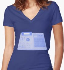 Akai MPC2000 Women's Fitted V-Neck T-Shirt