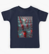 Retro 3D Robot Cinema Kids Tee