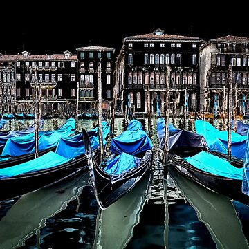 Gondolas in Venice by ansaharju