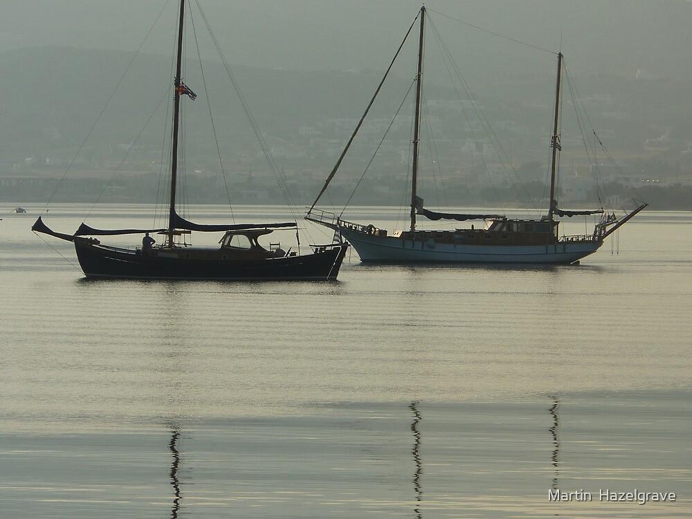 still waters boats Anti Paros by Martin  Hazelgrave
