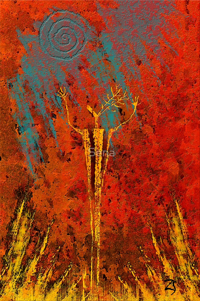 Deer Fire by Sena