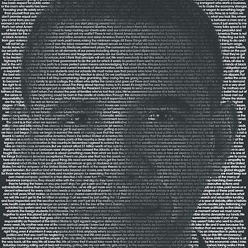 Barack Obama Quote Portrait by qqqueiru