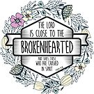 Christian Quote - The Lord is close to the brokenhearted and saves those who are crushed in spirit by ChristianStore