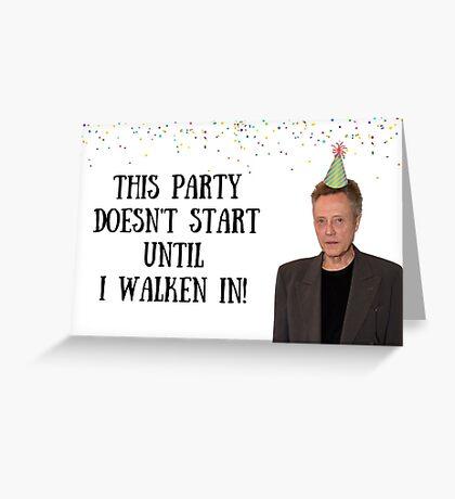 Tarjeta de cumpleaños Walken, tarjetas de felicitación meme, tarjeta de invitación a la fiesta Tarjeta de felicitación