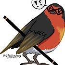 Confused robin by hellredsky