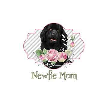 Newfie Mom with Flowers by itsmechris