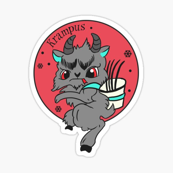 Cute Krampus Sticker