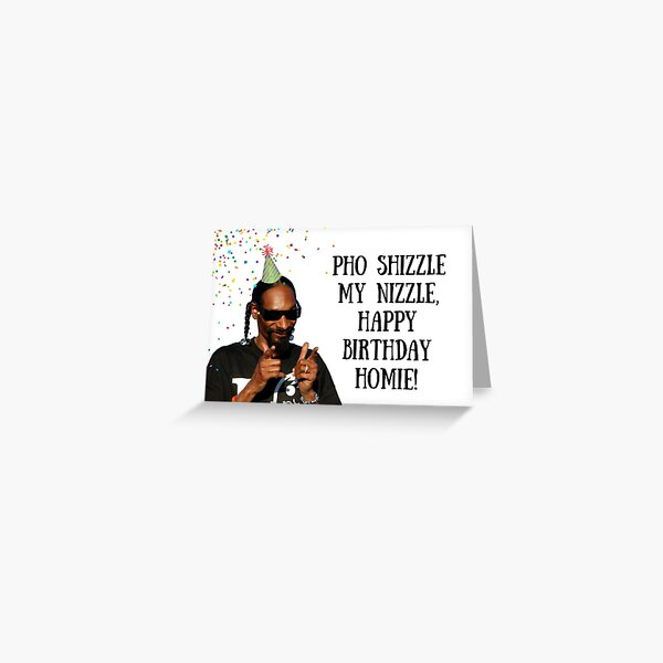 Snoop Dogg Birthday card/sticker, rapper greeting card, meme greeting cards Greeting Card