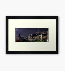 Night Streetscape - Juniper Hall, Oxford Street, Sydney Framed Print