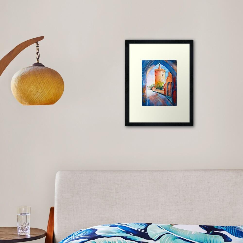 Mittenwalde, Berliner Tor & Powder Tower Framed Art Print